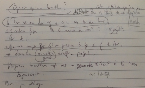Traduction cahier de brouillon en allemand
